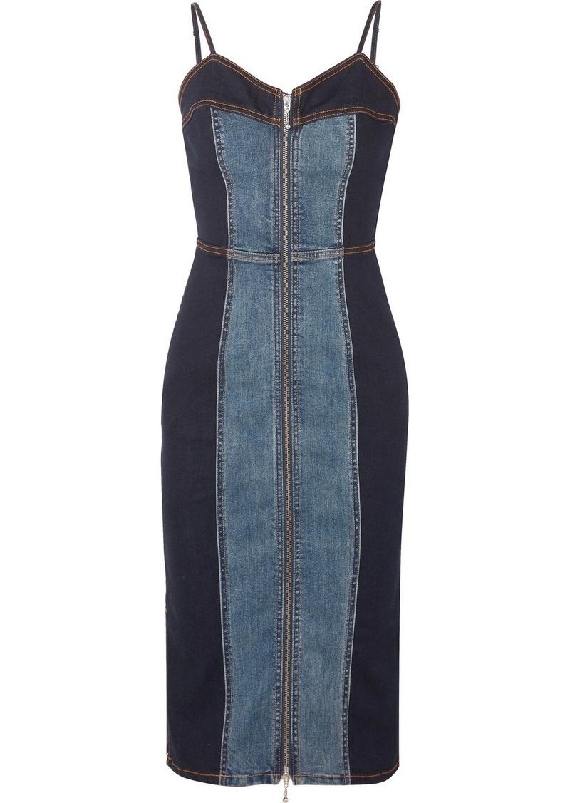 Current/Elliott The Jacqueline Two-tone Stretch-denim Dress