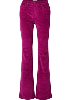 Current/Elliott The Jarvis Stretch Cotton-blend Corduroy Flared Pants