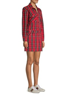 Current/Elliott The Jumpsuit Tartan Mini Dress