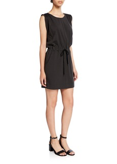 Current/Elliott The Knit Angeline Sleeveless Drawstring-Waist Mini Dress