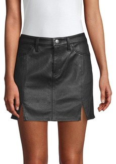 Current/Elliott The Leather Mini Skirt