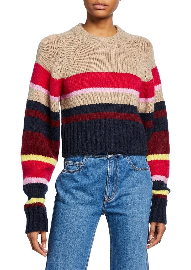 Current/Elliott The Moonshine Striped Crop Sweater
