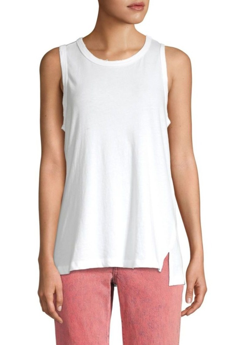 Current/Elliott The Muscle Distressed Cotton Tank