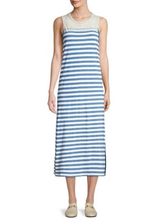Current/Elliott The Perfect Muscle Cotton Stripe Dress