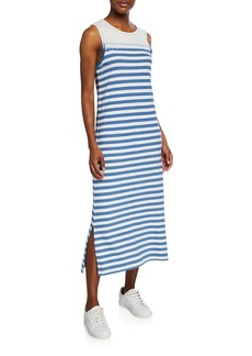 Current/Elliott The Perfect Muscle Tee Striped Dress