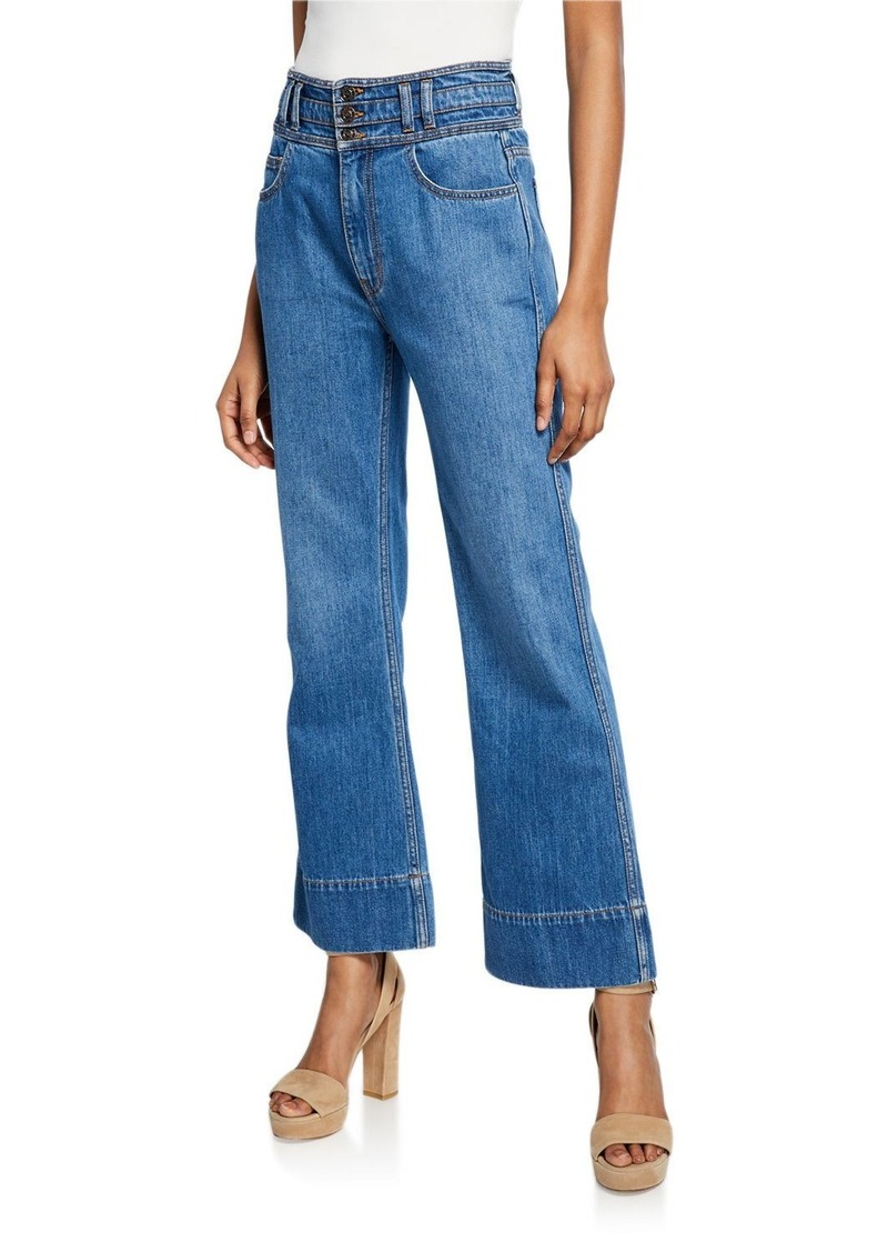 Current/Elliott The Pinball Cropped Maritime Jeans