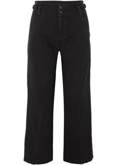 Current/Elliott The Relaxed Army Cotton And Linen-blend Wide-leg Pants