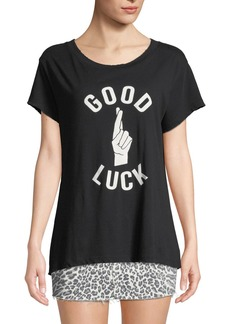 Current/Elliott The Relaxed Crew Good Luck Graphic Tee