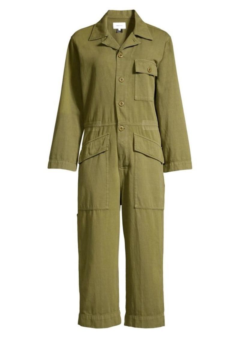 Current/Elliott The Richland Linen-Blend Jumpsuit