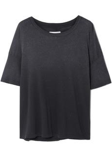 Current/Elliott The Roadie Glittered Distressed Cotton-jersey T-shirt