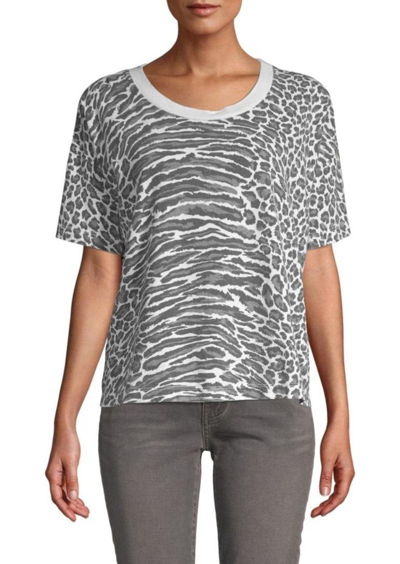 39554579a326c3 Current Elliott The Roadie Leopard Print Top