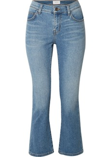 Current/Elliott The Scooped Ruby Cropped Mid-rise Straight-leg Jeans
