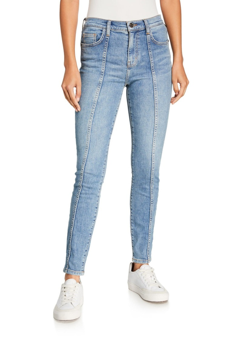 Current/Elliott The Seamed High-Waist Ankle Skinny Stiletto Jeans