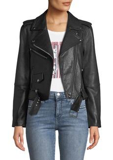 Current/Elliott The Shaina Leather Biker Jacket