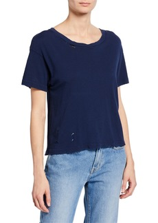 Current/Elliott The Short CG Distressed Cotton Tee