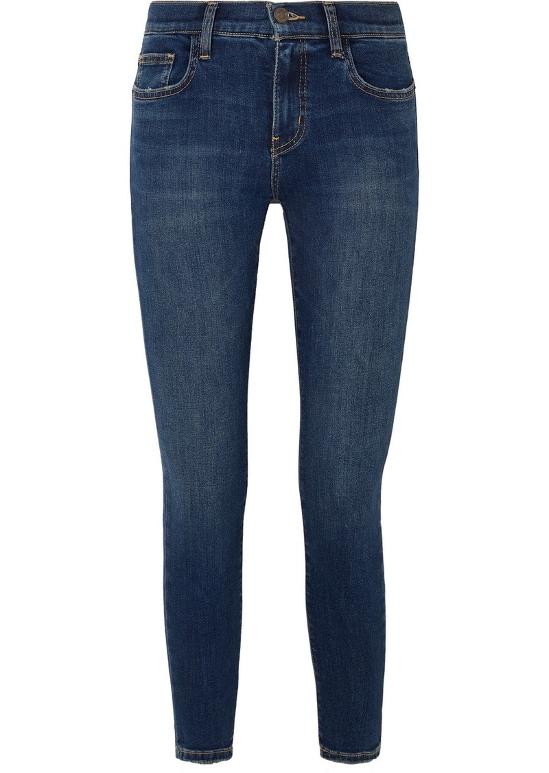 Current/Elliott The Stiletto Cropped High-rise Skinny Jeans