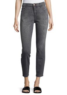 Current/Elliott The Stiletto Gray Leopard Jeans