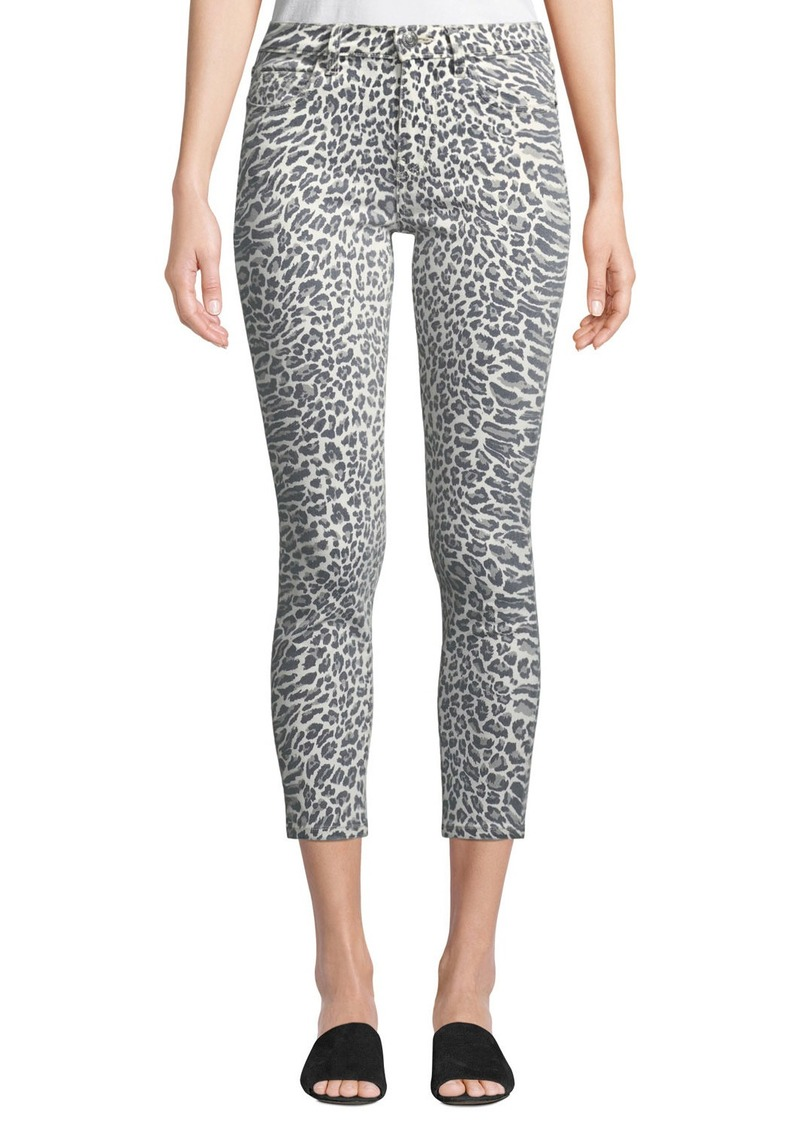 5bc4b5448db5 Current/Elliott The Stiletto Leopard-Print Skinny Jeans | Denim