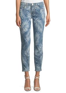 Current/Elliott The Stiletto Palm-Print Skinny Jeans