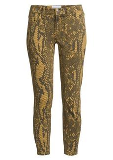 Current/Elliott The Stiletto Python Print Skinny Jeans
