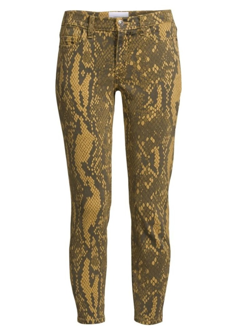 Current/Elliott The Stiletto Python Print Skinny Jeans
