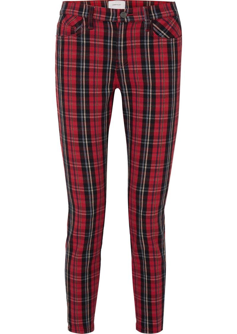 Current/Elliott The Stiletto Tartan Mid-rise Skinny Jeans