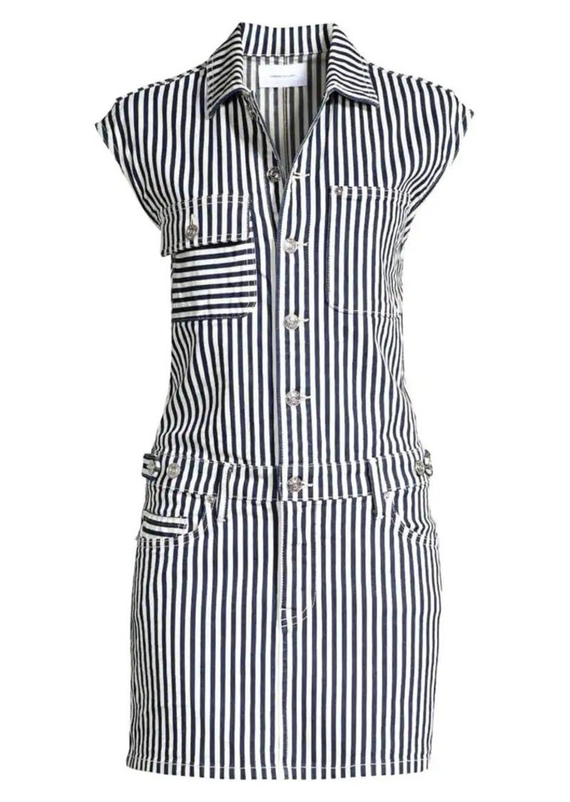 Current/Elliott The Striped Jumpsuit Mini Dress