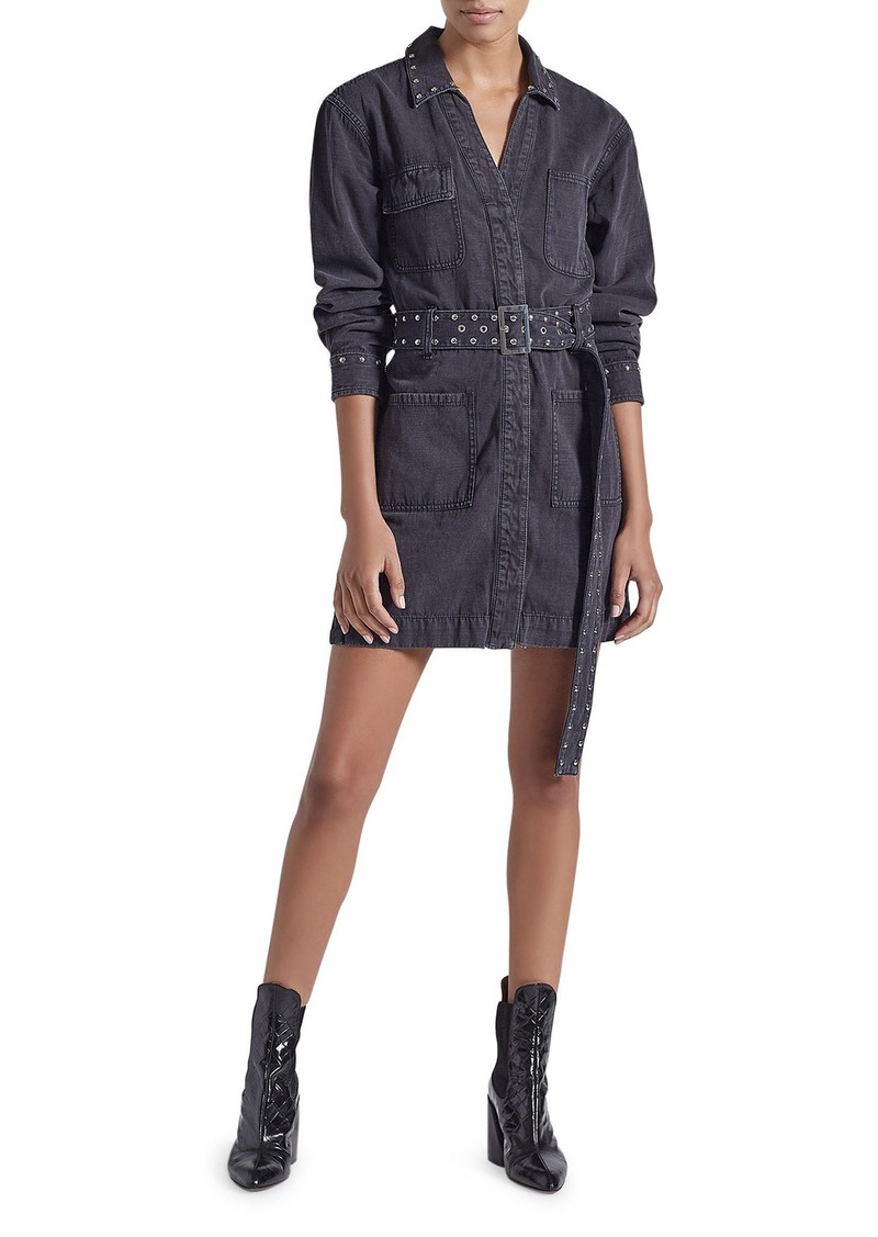 Current/Elliott The Studded Debbie Shirt Dress