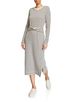 Current/Elliott The Studio Striped Long-Sleeve Dress