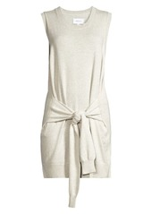 Current/Elliott The Suns Out Cashmere-Blend Tie Sweater Dress