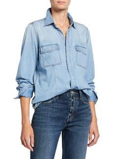 Current/Elliott The Surfwood Button-Down Denim Shirt