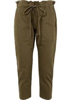 Current/Elliott The Tabloid Cropped Cotton-blend Pants