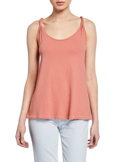 Current/Elliott The Twisted Scoop-Neck Tank