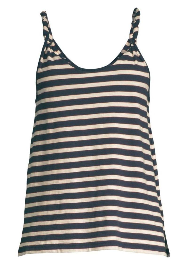 Current/Elliott The Twisted Stripe Tank Top