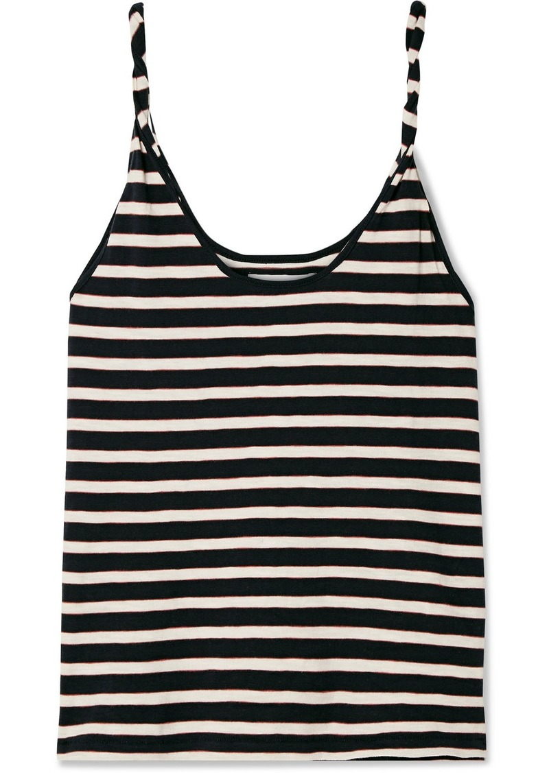 Current/Elliott The Twisted Striped Stretch-cotton Jersey Tank