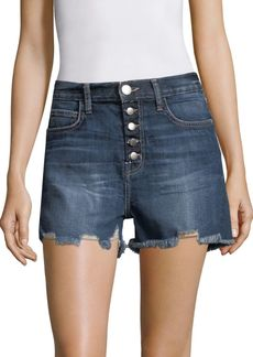 Current/Elliott The Ultra High-Waist Denim Shorts