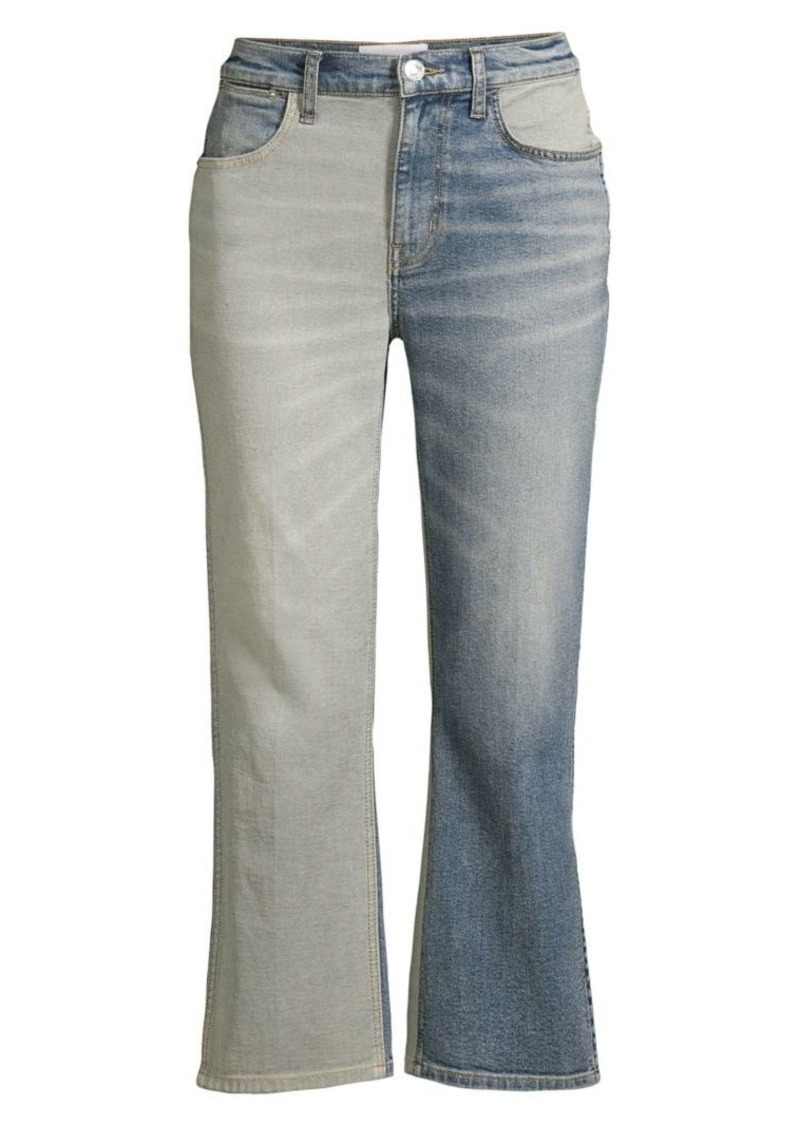 Current/Elliott The Vanessa Two-Tone Cropped Jeans