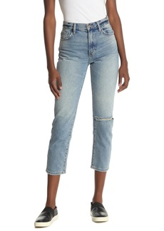 Current/Elliott The Vintage Distressed Cropped Slim Jeans