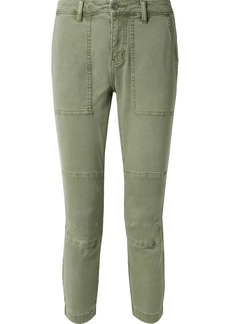 Current/Elliott The Weslan Lace-up Cotton-blend Twill Slim-leg Pants