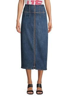 Current/Elliott Tribly Denim Pencil Skirt