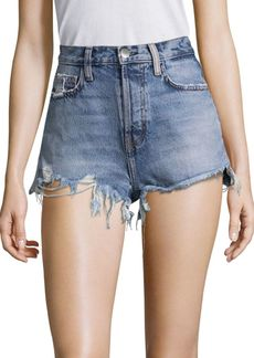 Current/Elliott High-Waist Destroyed Shorts
