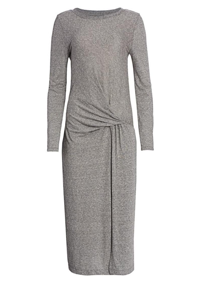 Current/Elliott Vega Tie-Waist Heathered T-Shirt Dress
