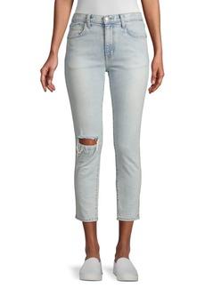 Current/Elliott Vintage Slim Fit Cropped Jeans