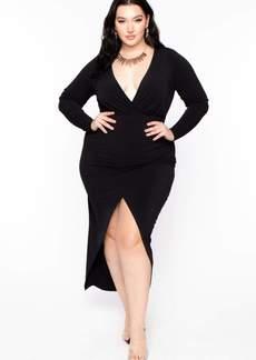 Curvy Sense Athena Deep V Maxi Dress