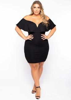 Curvy Sense Frill Bodycon Dress