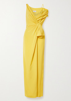 Cushnie Asymmetric Wrap-effect Silk-crepe Gown