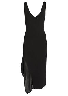 Cushnie Asymmetrical Crepe Midi Dress