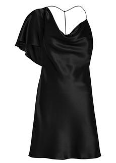 Cushnie Cowl Neck Draped Mini Dress