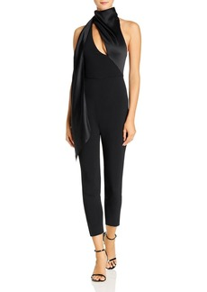 Cushnie Cropped Fitted Wraparound Jumpsuit