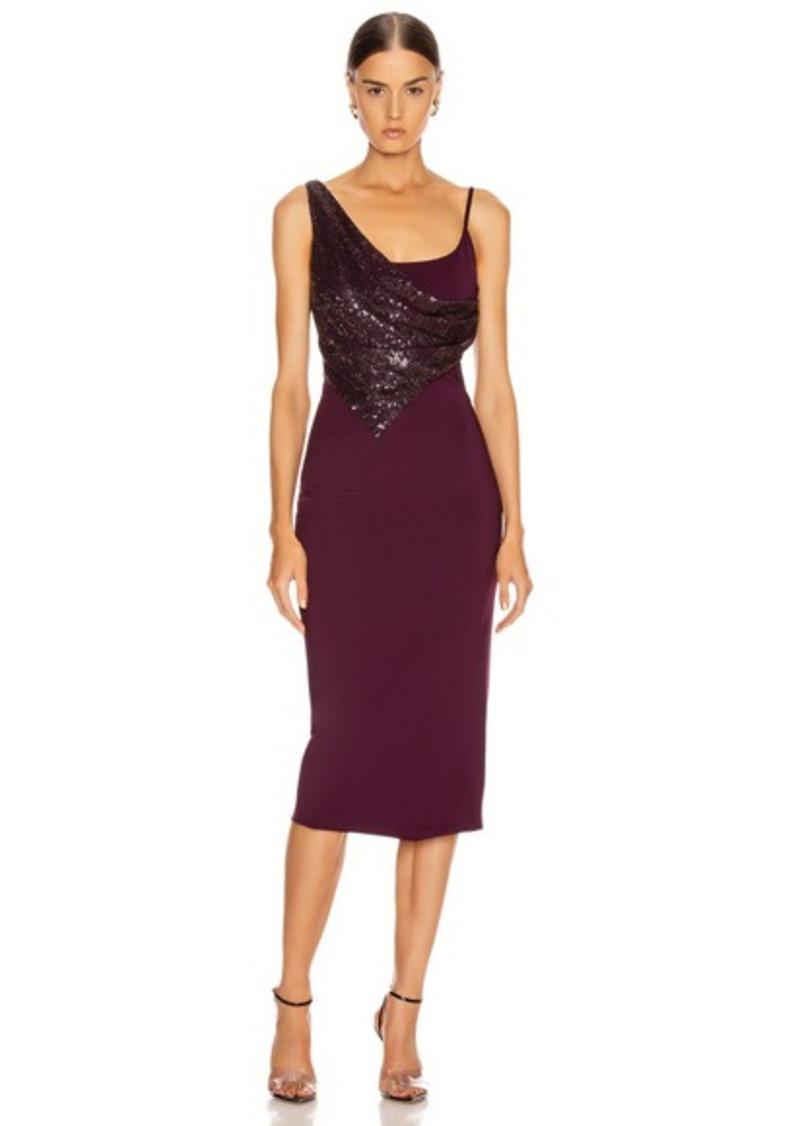 Cushnie Diamond Embellished Pencil Dress